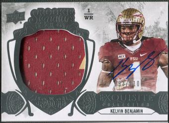2014 Exquisite Collection #122 Kelvin Benjamin Rookie Patch Auto #093/110