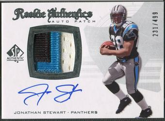 2008 SP Authentic #305 Jonathan Stewart Rookie Patch Auto #231/499