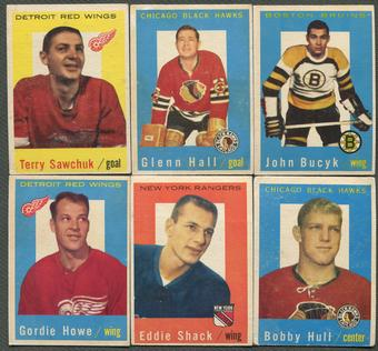 1959/60 Topps Hockey Complete Set (VG-EX)