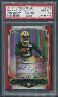 2014 Topps Chrome #159 Ha Ha Clinton-Dix Red Refractor Rookie Auto #5/5 PSA 10 (GEM MT)