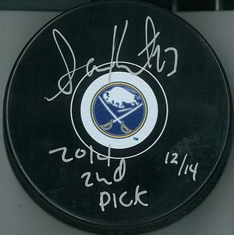 Samson Reinhart Autographed Buffalo Sabres Hockey Puck #d w/Inscription