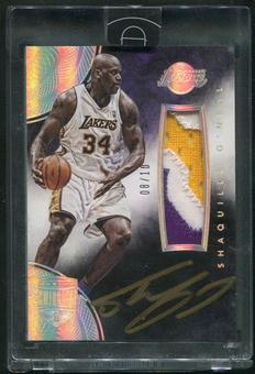 2014/15 Panini Eminence #OAP-SO Shaquille O'Neal Silver Patch Auto #08/10
