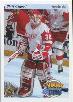 2014/15 Upper Deck 25th Anniversary Young Guns #UD25CO2 Chris Osgood NCDU COR white/(wearing white jersey)