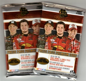 2006 Press Pass Premium Racing Hobby Pack
