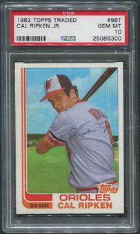 1982 Topps Traded Baseball #98T Cal Ripken Jr. Rookie PSA 10 (GEM MT)