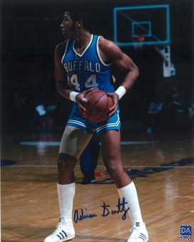 Adrian Dantley Autographed Buffalo Braves 8x10 Basketball Photo