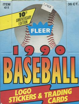 1990 Fleer Baseball Wax Box