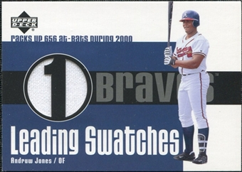 2003 Upper Deck Leading Swatches Jersey #AJ1 Andruw Jones AB SP