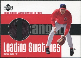 2003 Upper Deck Leading Swatches Jersey #AS Aaron Sele WIN