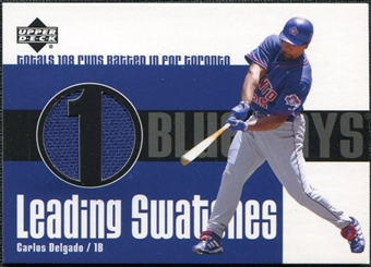 2003 Upper Deck Leading Swatches Jersey #CD Carlos Delgado RBI
