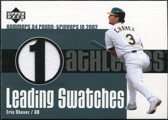 2003 Upper Deck Leading Swatches Jersey #EC Eric Chavez HR