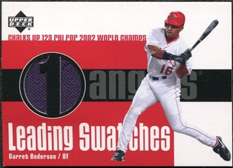 2003 Upper Deck Leading Swatches Jersey #GA Garret Anderson RBI