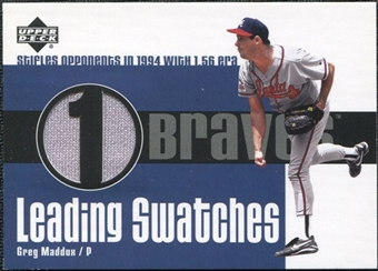 2003 Upper Deck Leading Swatches Jersey #GM1 Greg Maddux 1.56 ERA SP