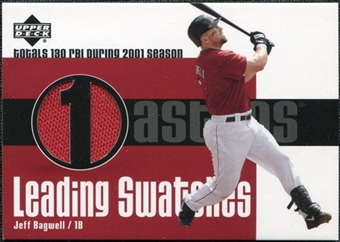 2003 Upper Deck Leading Swatches Jersey #JB Jeff Bagwell RBI