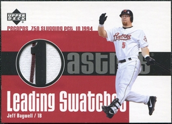 2003 Upper Deck Leading Swatches Jersey #JB1 Jeff Bagwell SLG SP