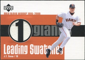 2003 Upper Deck Leading Swatches Jersey #JS J.T. Snow GLV