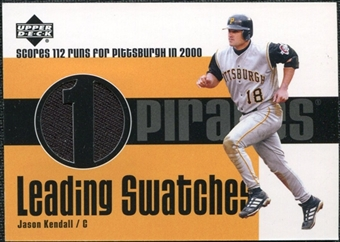 2003 Upper Deck Leading Swatches #KE Jason Kendall RUN Jersey