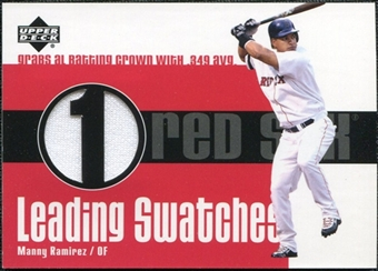 2003 Upper Deck Leading Swatches Jersey #MR Manny Ramirez AVG