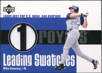 2003 Upper Deck Leading Swatches Jersey #MS Mike Sweeney AVG