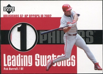 2003 Upper Deck Leading Swatches Jersey #PB Pat Burrell HR