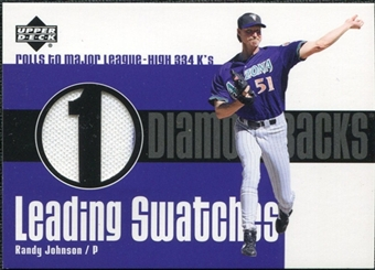 2003 Upper Deck Leading Swatches Jersey #RJ Randy Johnson K
