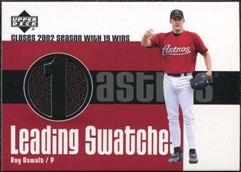 2003 Upper Deck Leading Swatches Jersey #RO Roy Oswalt WIN