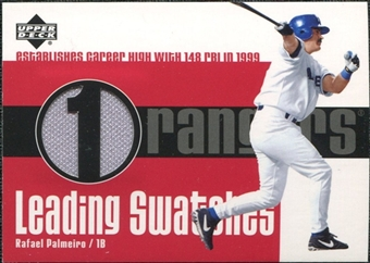 2003 Upper Deck Leading Swatches Jersey #RP Rafael Palmeiro RBI