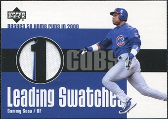 2003 Upper Deck Leading Swatches Jersey #SS1 Sammy Sosa 50 HR SP /170
