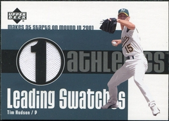 2003 Upper Deck Leading Swatches Jersey #THU1 Tim Hudson GM SP