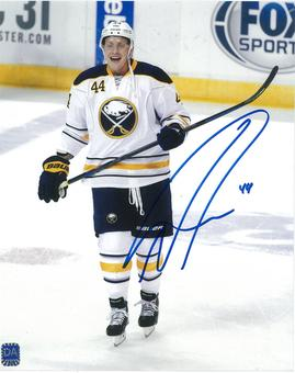 Nicolas Deslauriers Autographed Buffalo Sabres 8x10 White Hockey Photo