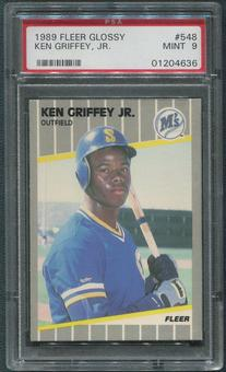 1989 Fleer Glossy Baseball #548 Ken Griffey Jr. Rookie PSA 9 (MINT)