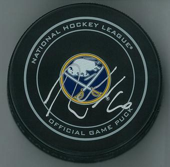 Robin Lehner Autographed Buffalo Sabres Official Game Hockey Puck