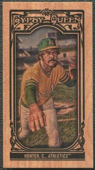 2013 Topps Gypsy Queen #140 Catfish Hunter Mini Wood #5/5