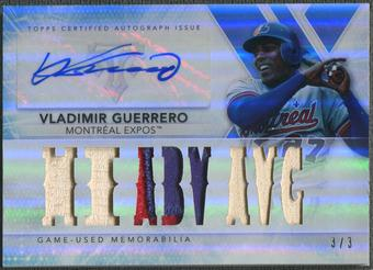 2015 Topps Triple Threads #TTARVG1 Vladimir Guerrero Sapphire Bat Patch Auto #3/3
