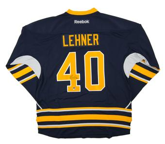 Robin Lehner Autographed Buffalo Sabres XL Blue Hockey Jersey