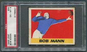 1948 Leaf Football #44 Bob Mann Rookie PSA 6 (EX-MT)