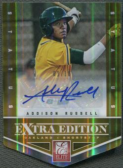2012 Elite Extra Edition #1 Addison Russell Signature Status Orange Rookie Auto #01/10