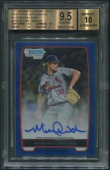 2012 Bowman Chrome Draft Pick #MW Michael Wacha Blue Refractor Rookie Auto #029/150 BGS 9.5 (GEM MINT)
