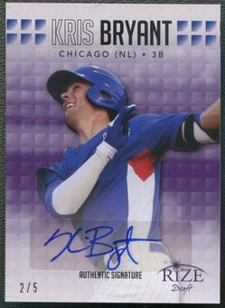2013 Rize Draft #11 Kris Bryant Purple Rookie Auto #2/5