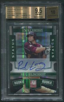 2010 Donruss Elite Extra Edition #191 Paul Goldschmidt Emerald Rookie Auto #24/25 BGS 9.5 (GEM MINT)