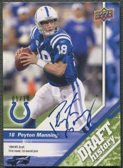 2009 Upper Deck Draft Edition #154 Peyton Manning Green Auto #01/10