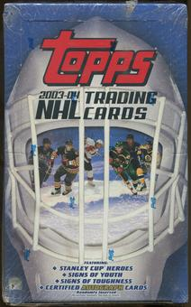 2003/04 Topps Hockey Retail Box