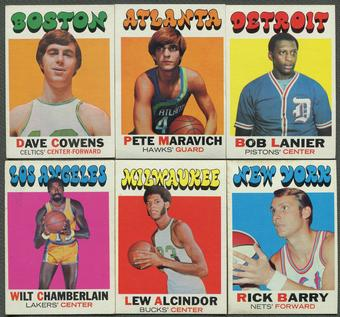 1971/72 Topps Basketball Complete Set (EX-MT) Set 2