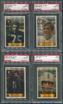 1980 Stop N Go Football Partial PSA Graded Set