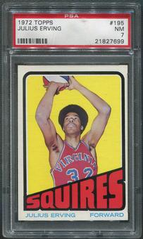 1972/73 Topps Basketball #195 Julius Erving Rookie PSA 7 (NM)