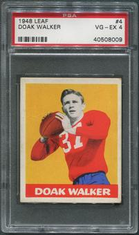 1948 Leaf Football #4 Doak Walker Rookie Bright Yellow Background PSA 4 (VG-EX)