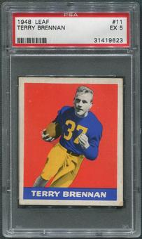 1948 Leaf Football #11 Terry Brennan Rookie PSA 5 (EX)