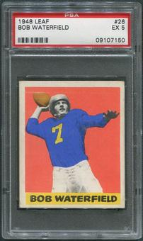 1948 Leaf Football #26 Bob Waterfield Rookie Black Name On Front PSA 5 (EX)