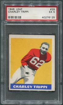 1948 Leaf Football #29 Charley Trippi Rookie PSA 5 (EX)