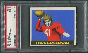 1948 Leaf Football #30 Paul Governali Rookie PSA 5 (EX)